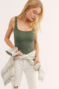 Women's Square One Seamless Cami in Moss by Free People | Bohemian Mama