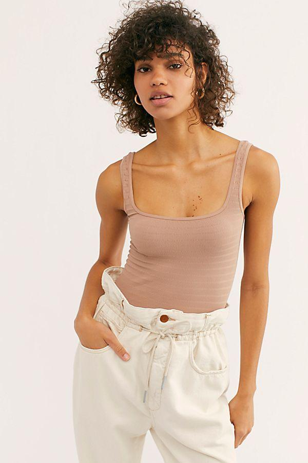 Square One Seamless Cami in Nude by Free People | Bohemian Mama