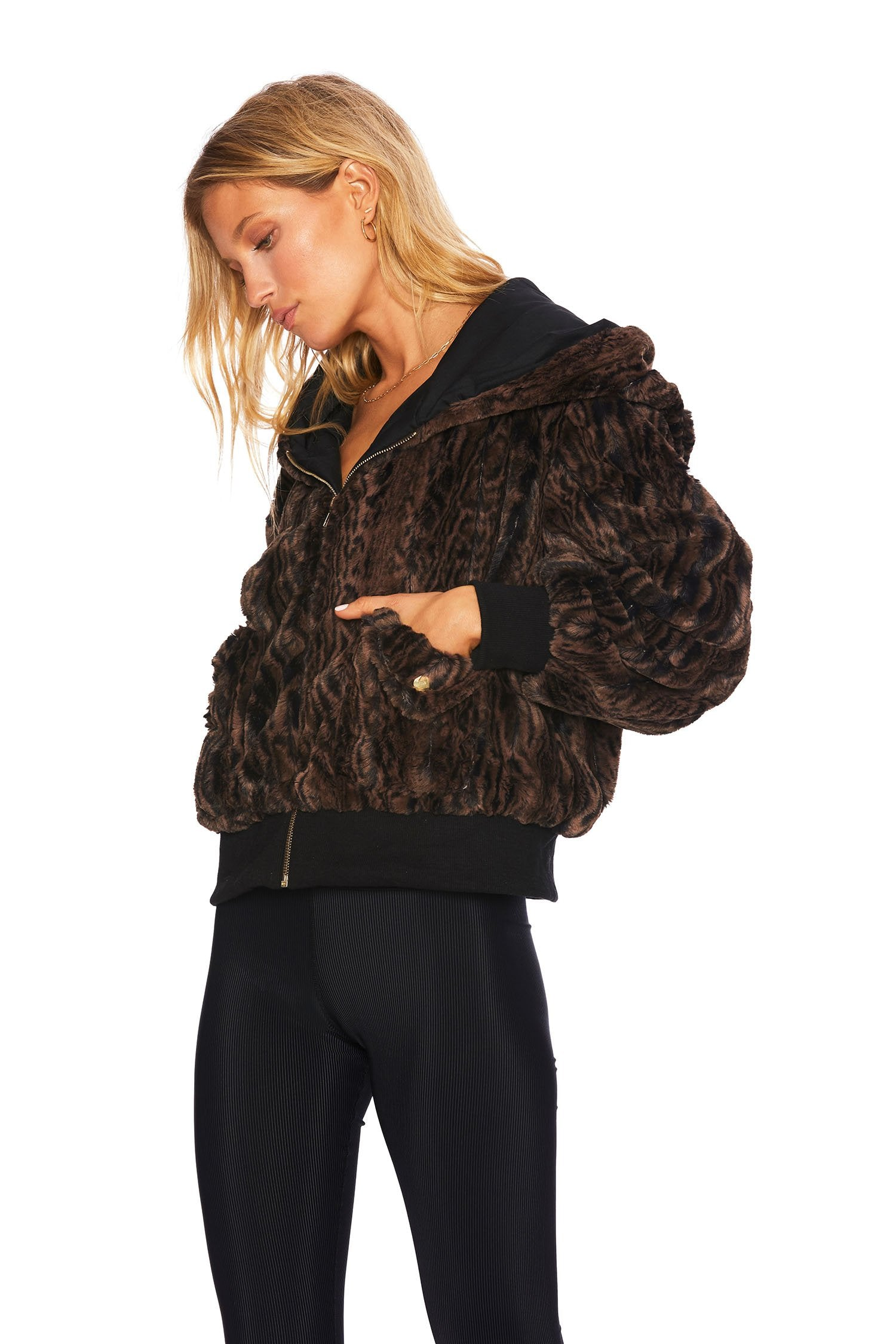 Load image into Gallery viewer, Fuzzy Jacket - Mink | Beach Riot - Women's Outerwear