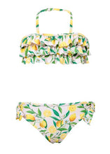 Load image into Gallery viewer, Lemon Ruffle Bandeau Bikini by Snapper Rock