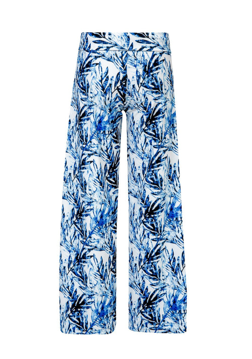 Ombre Leaf Wide Leg Beach Pant