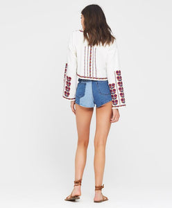 Georgetown Denim Short, Tigerlily - Bohemian Mama