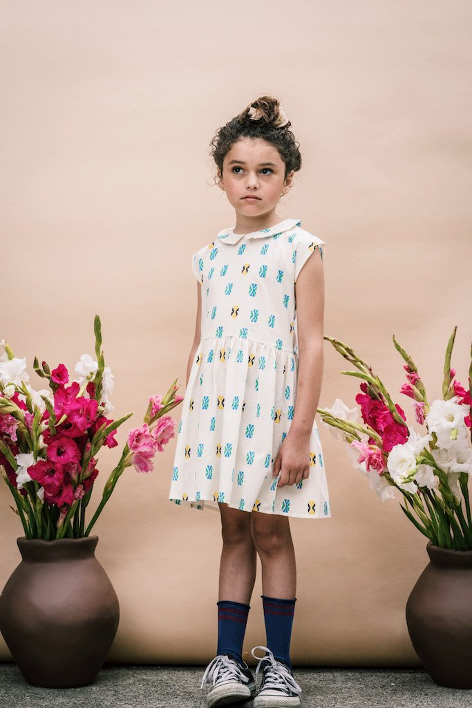 Galena Dress - Cream Aztec from Wander and Wonder for Kids