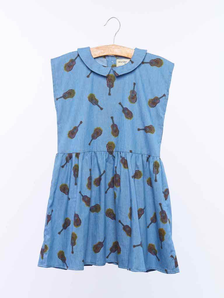 Load image into Gallery viewer, Galena Dress in Denim Guitar from Wander & Wonder