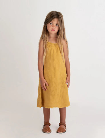 Go Gently Nation Gauze Sundress Golden