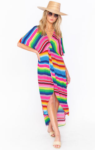 Get Twisted Maxi Dress - Serape Party
