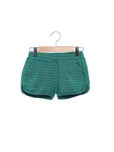 Girls Shorts - Green Multi