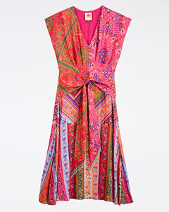 Colorful Bandana Waist Binding Midi Dress | Farm Rio - Women's Clothing