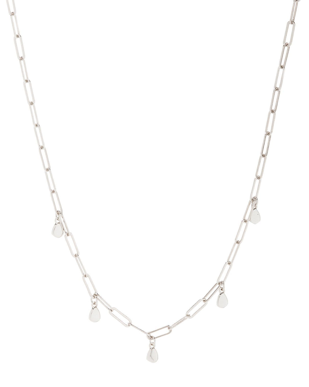 Golden Nugget Shaker Necklace - Silver | Luv AJ Women's Jewelry