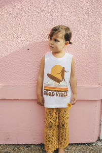 Good Vibes Tank - White