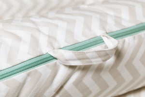 Grand Cover - Silver Lining (Chevron) | DockATot Baby Accessories Lounger