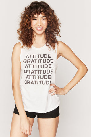Gratitude Muscle Tank by Spiritual Gangster