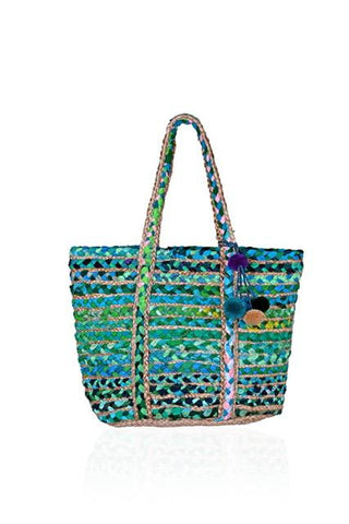Green Lake Chindi and Jute Bag