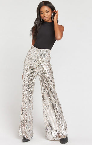 Show Me Your Mumu Gretta Pants Platinum Party Sequins