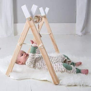 Wooden Baby Play Gym and Activity Set