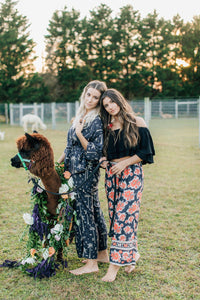 Gypsy Love Pants in Royal Palm Midnight by Bohemian Mama The Label | Pants