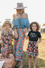 Load image into Gallery viewer, Gypsy Love Pants in Red Dahlia Tropical Teal  by Bohemian Mama The Label | Summer 2019