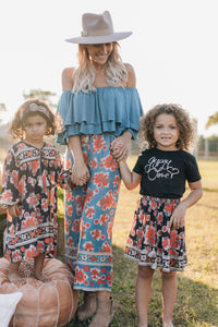 Gypsy Love Pants in Red Dahlia Tropical Teal  by Bohemian Mama The Label | Summer 2019