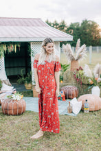 Load image into Gallery viewer, Gypsy Love Roper Romper in Royal Palm Marooned by Bohemian Mama The Label | Rompers