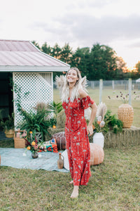 Gypsy Love Roper Romper in Royal Palm Marooned by Bohemian Mama The Label | Jumpsuits + Rompers