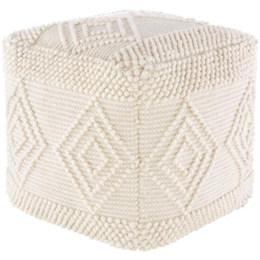Load image into Gallery viewer, Hygge Pouf - White | Surya - Home Décor - Pillows