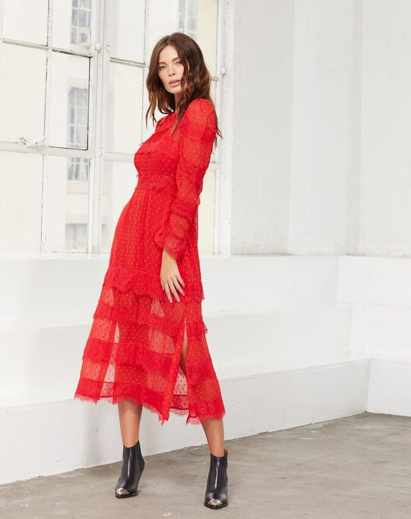 Load image into Gallery viewer, Haven Midi Dress - Red