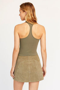 Hayley Racerback Brami in Army by Free People | Womens