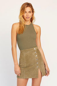 Hayley Racerback Brami in Army by Free People