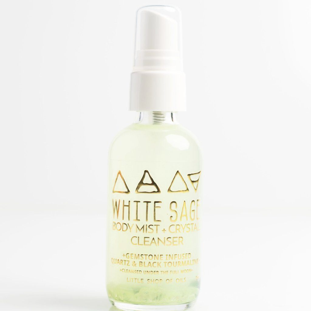 White Sage/Body + Crystal Cleanser by Little Shop of Oils