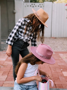Henny and Coco Nori Hat in Camel | rancher hats for Kids