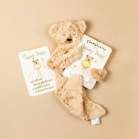 Slumberkins Honey Bear Snuggler Bundle - Honey