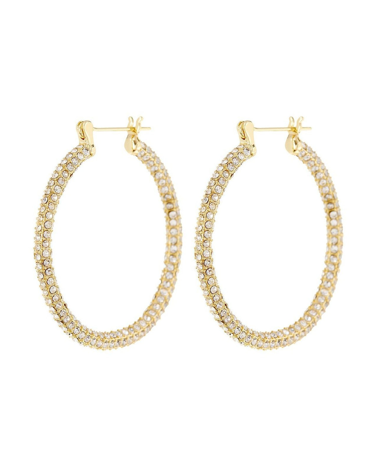 Pave Skinny Amalfi Hoops - Gold | Luv AJ - Holiday 2020 | Women's Jewelry
