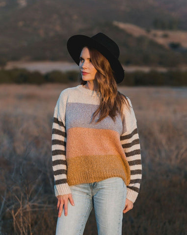 Womens Stripe Aspen Sweater
