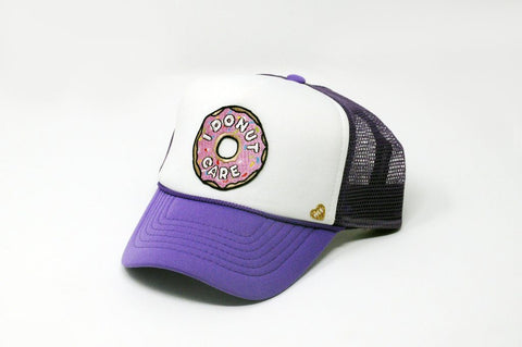 I Donut Care Kids Trucker Hat - Bohemian Mama