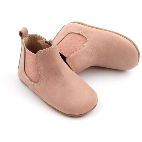 Waxed Leather Chelsea Boot | Color 'Antelope Pink' | Soft Sole