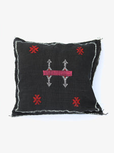 Moroccan Cactus Silk Pillow-Licorice by Moon Water Co.
