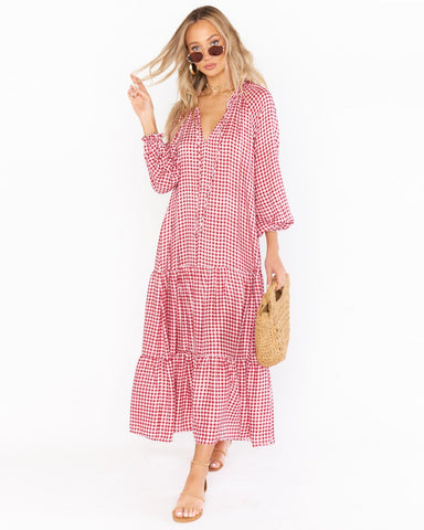 Birdie Maxi Dress - Cherry Pie Gingham