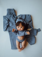 Load image into Gallery viewer, Minikane Baby Steel Blue Matching Set Size 1 2pc