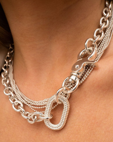 Isla Statement Necklace - Silver