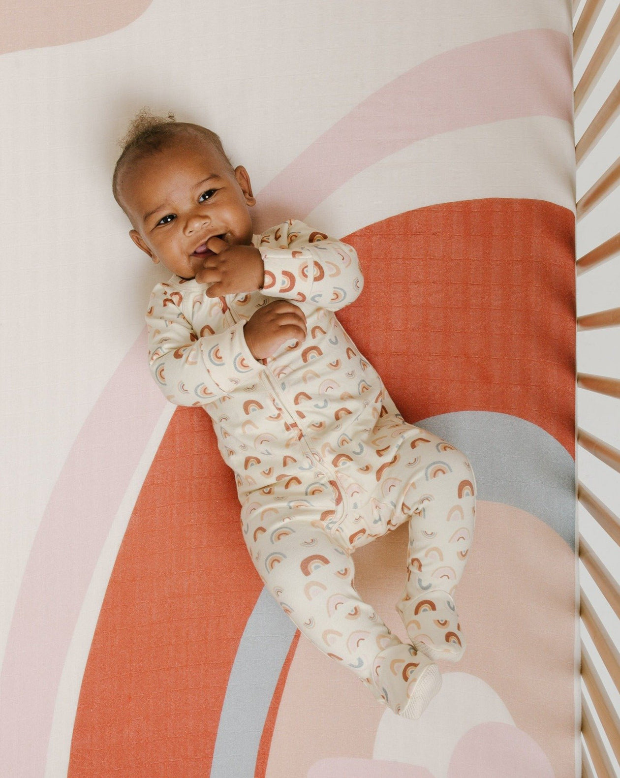 Over the Rainbow Footed Onesie | Bohemian Mama - Baby Clothing