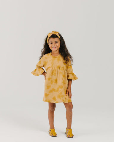 Organic Ruffle Dress - Sunset