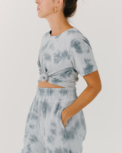 Cropped Tee - Ocean Mist | Bohemian Mama The Label - Women's Clothing