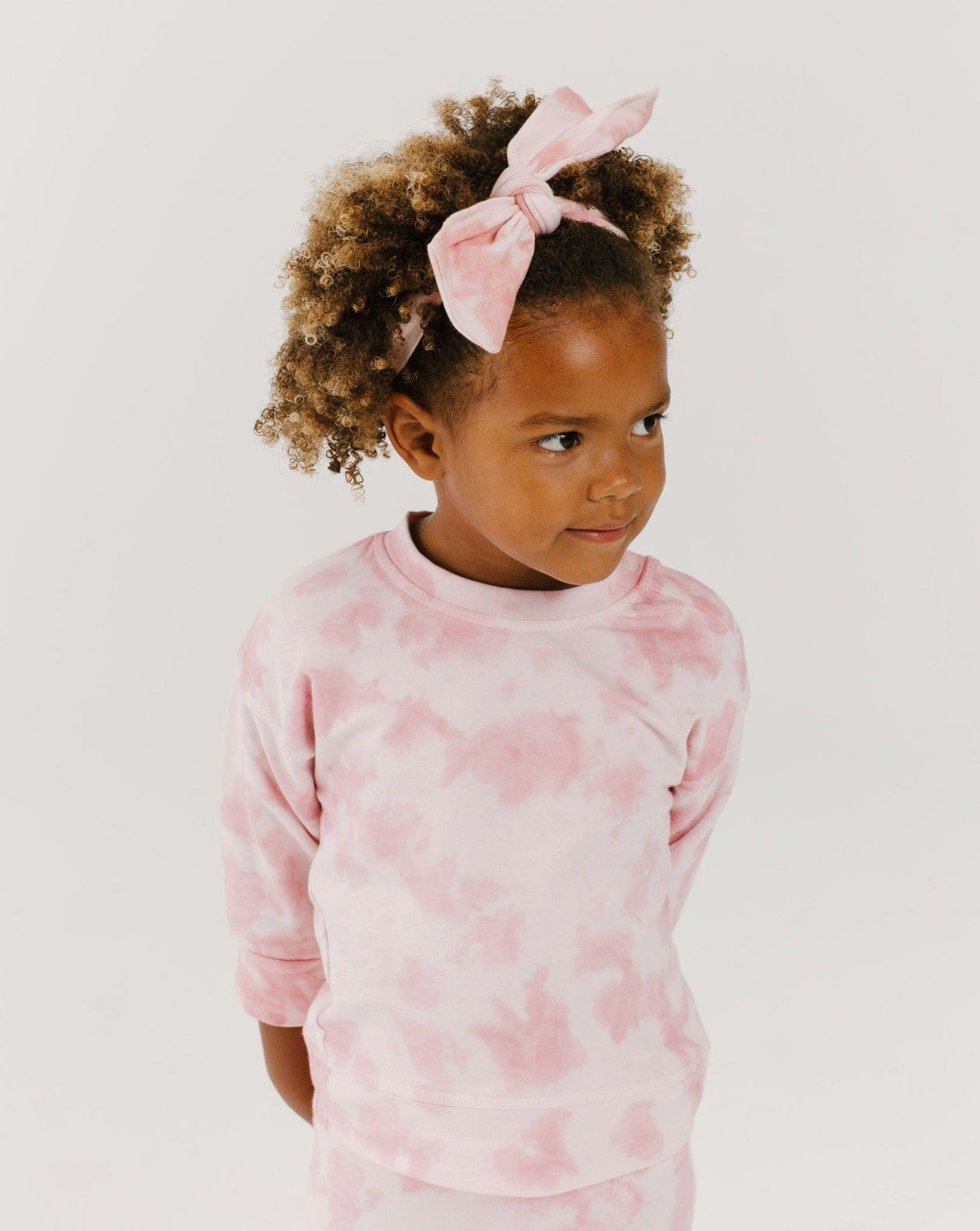 Crew Neck Sweatshirt - Pink Sand | Bohemian Mama Littles - Kids' Clothing