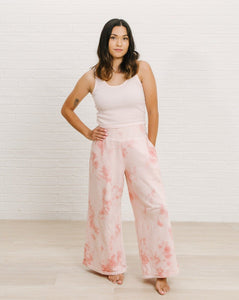 High-waisted Wide Leg Pant - Pink Sand | Bohemian Mama The Label - Women's Clothing