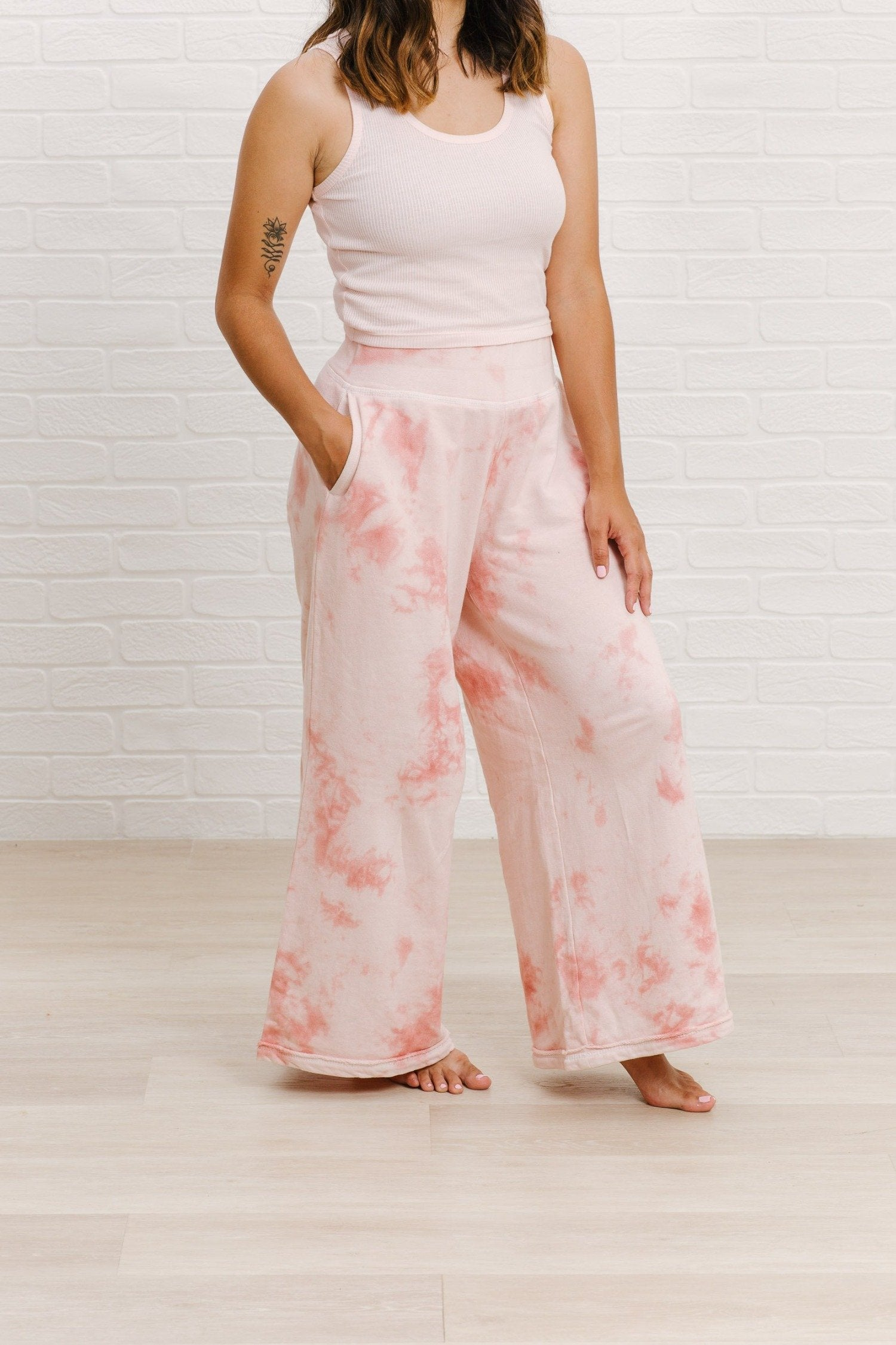 Load image into Gallery viewer, High-waisted Wide Leg Pant - Pink Sand | Bohemian Mama The Label - Women's Clothing