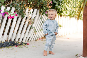 Crew Neck Sweatshirt - Ocean Mist | Bohemian Mama Littles - Kids' Clothing