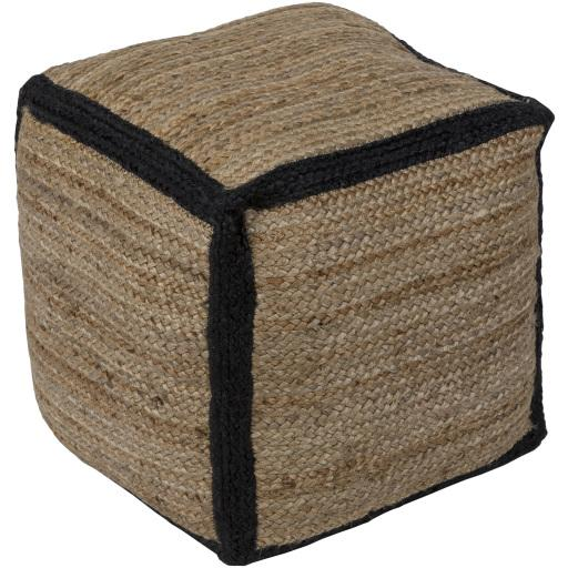 Java Pouf - Black | Surya - Home Décor - Pillows