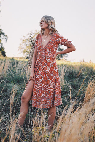 Marigold Wrap Dress by Arnhem