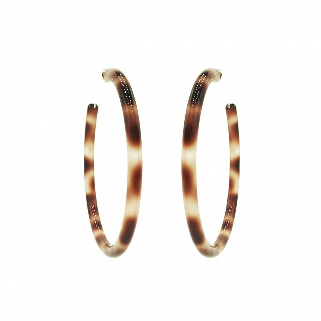 Jane Hoops in Light Brown from 8 Other Reasons