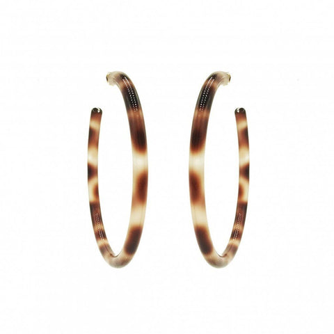 Jane Hoops in Light Brown